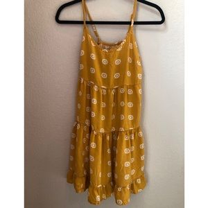 Mossimo Supply Co. Yellow Floral Sundress Sz Small